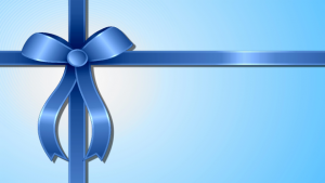 Blue ribbon for gift certificate png