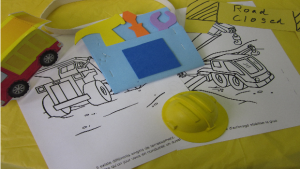 Week 9 in childcare - all about construction png