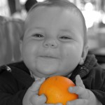 baby and orange