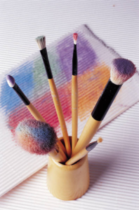 brushes and painting