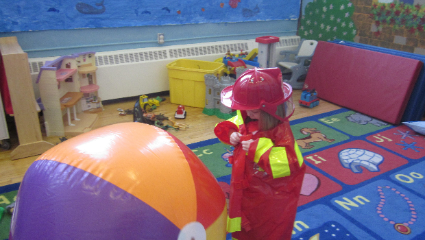 A firegirl in childcare!