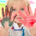 child finger paint