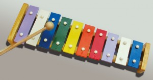 Musical instrument xylophone