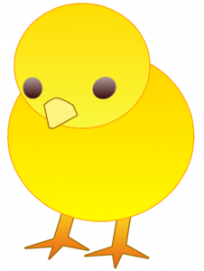 Easter chick for childcare post